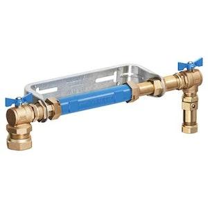 Vattenmätarkonsol 190-220mm med backventil, Vatette