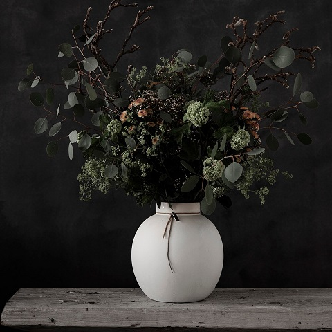 Stoneware vase 21 cm