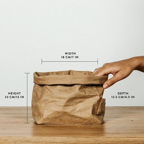 Uashmama papperspåse Medium LJUSGRÅ