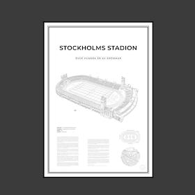 Stockholms stadion 50x70 cm