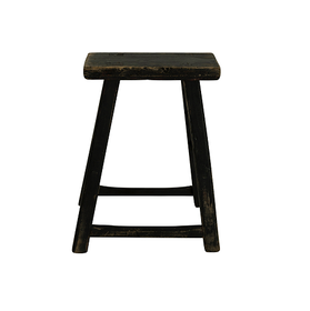 Vintage square stool BLACK