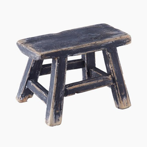Stool baby square BLACK