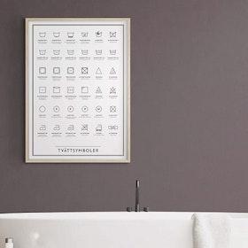 Tvättsymboler 50x70 cm