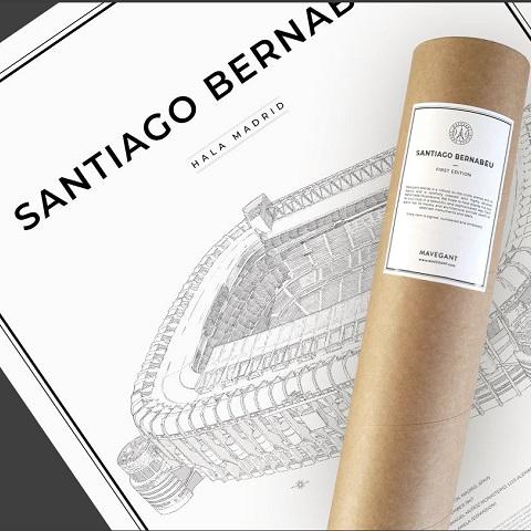 Santiago Bernabéu 50x70 cm