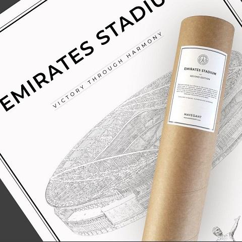 Emirates stadium 50x70 cm