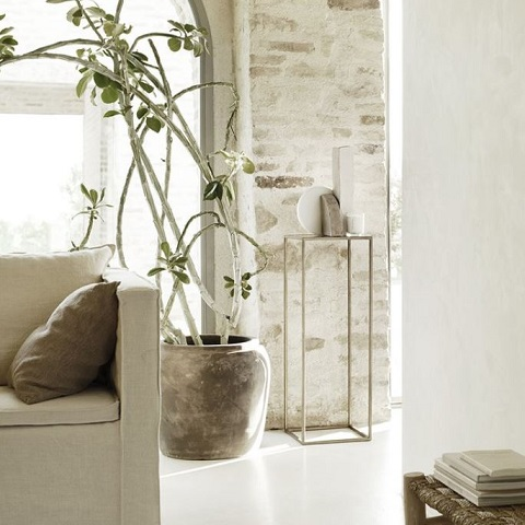 Pinstripe cushion cover in linen 50x50 cm