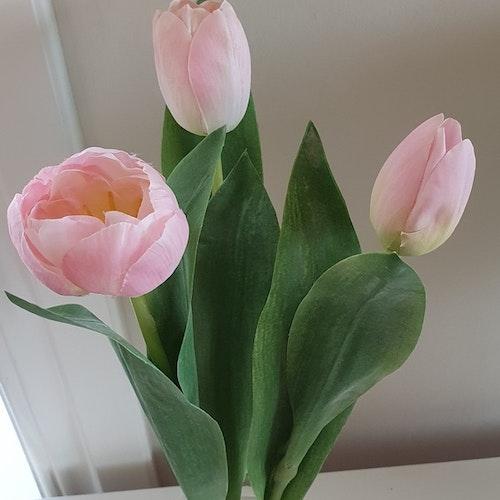 Tulpaner (konstgjorda) 3st rosa