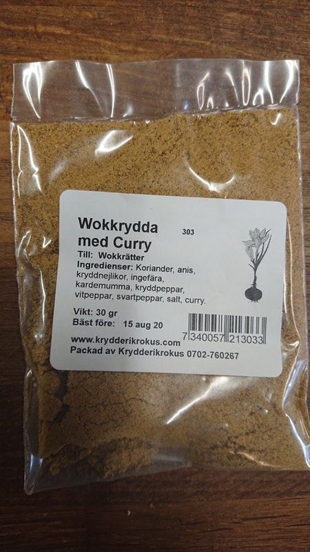 Wokkrydda curry