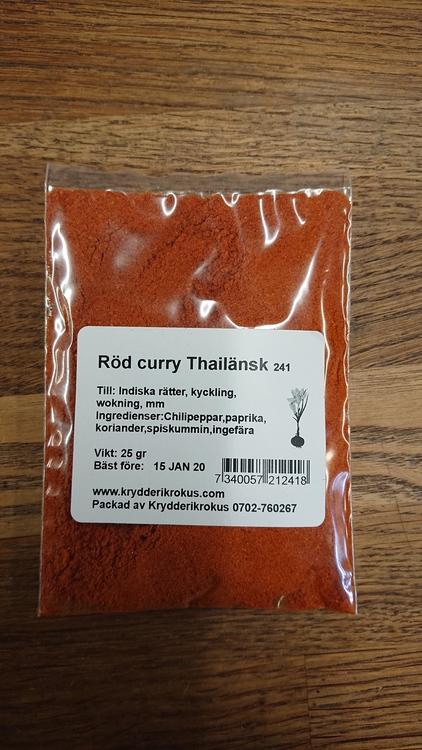 Röd Curry Thailänsk
