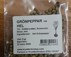 Grönpeppar hel