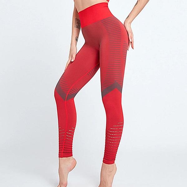 flingwear röda seamless tights med hög midja