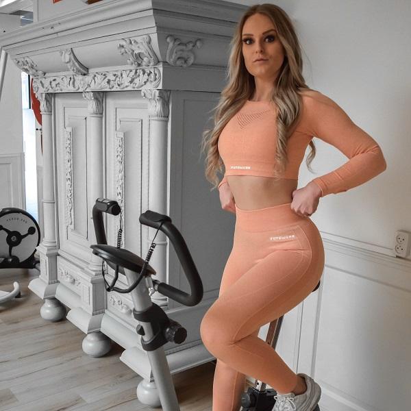 snygga seamless träningskläder för dam från flingwear