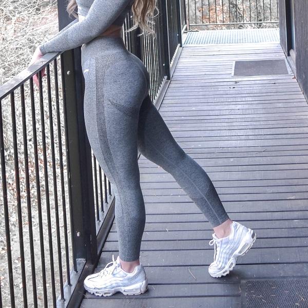 seamless tights som framhäver rumpan