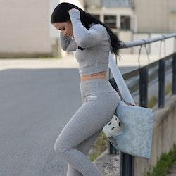 Flingwear Set Soft Ribbed Grey