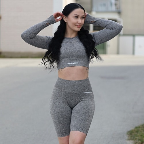 Seamless Träningsshorts Grey