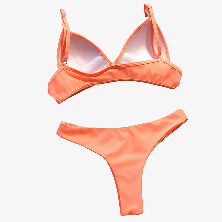 Orange pushup bikini stringtrosa