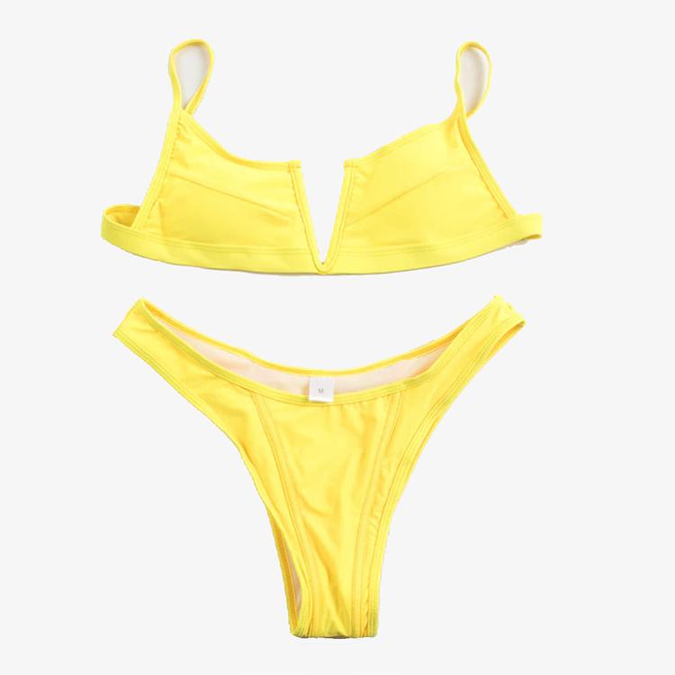 snygg gul pushup bikini
