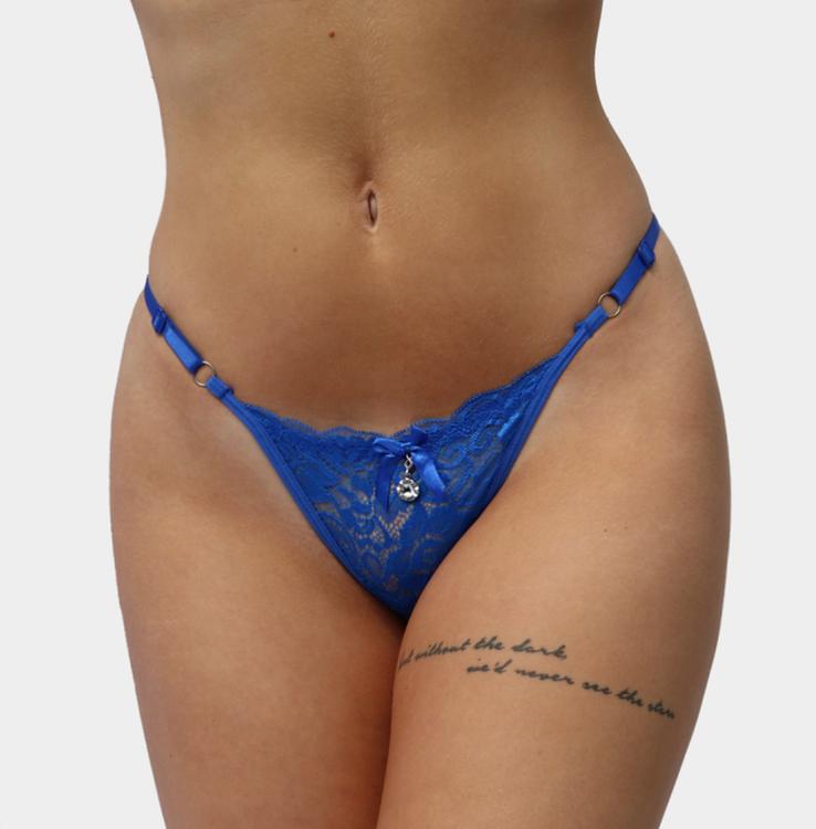 snygg blå sringtrosa