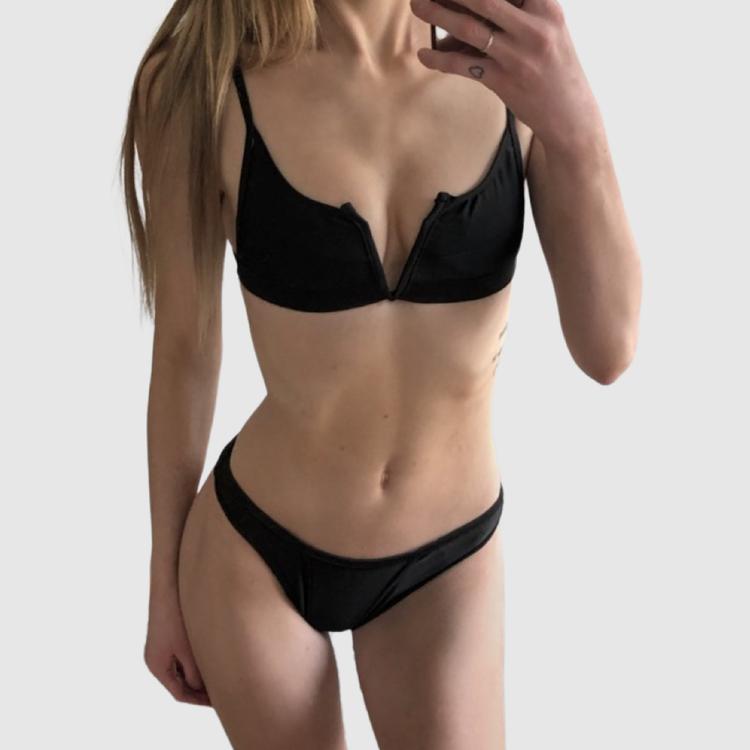 svart snygg billig bikini