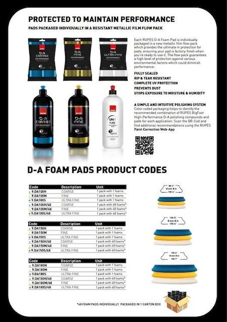 "Rupes - D-A Fine Polishing Foam Pad 3"" (80/100mm)"