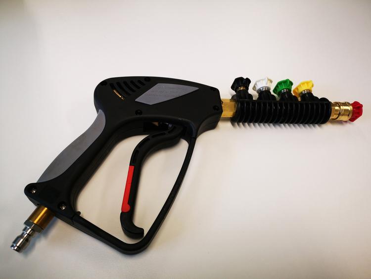 Långt Spolhandtags-Kit (Snabbkopplingar + Munstycken)