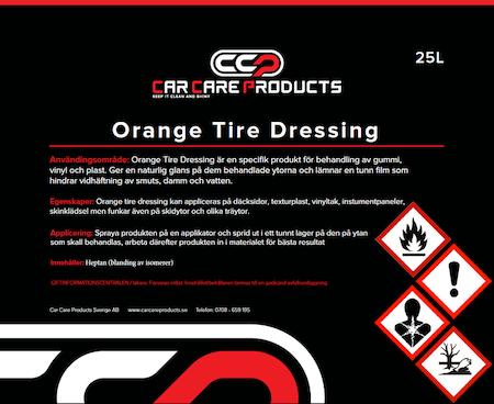 Car Care Products - Orange Tire Dressing 25L