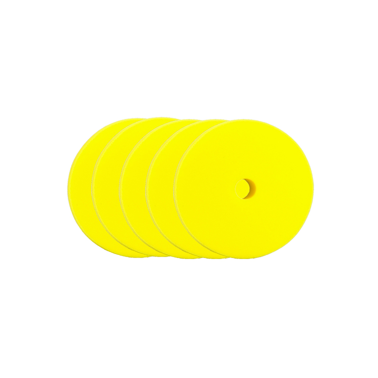 """Car Care Products - Yellow Medium Foam Pad 1,5"""" (35/45mm) 5-pack"""