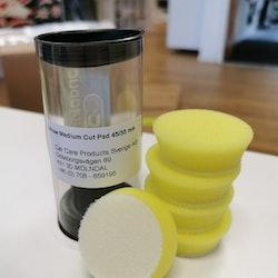 "Yellow Medium Foam Pad 1,5"" (35/45mm) 5-pack"