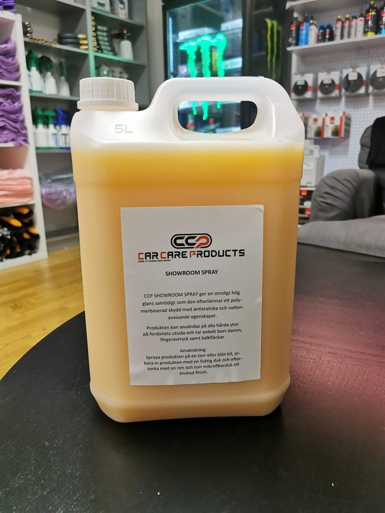 Car Care Products Showroom Spray
