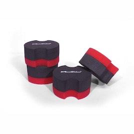 MaxShine Foam Waxing Applicator - Rubber Backed (4-Pack)