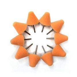 MaxShine Mini Polisher System Accessories Small Orange Polishing Pad (10-Pack)