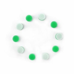 MaxShine Mini Polisher System Accessories Small Green Polishing Pad (10-Pack)