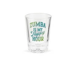 Zumba Happy Hour Shot Glass