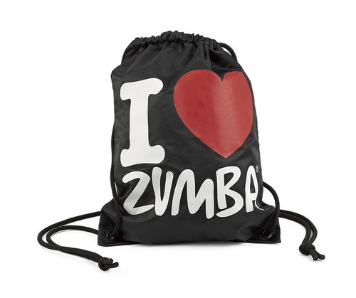 I Love Zumba Drawstring Bag