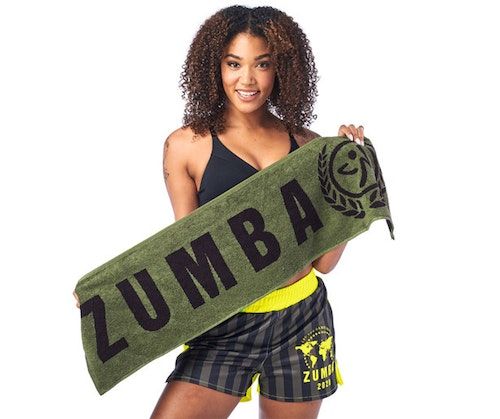 Zumba Dance League Fitness Towels 2pk