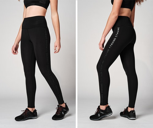 Printed Logo High Waisted Leggings