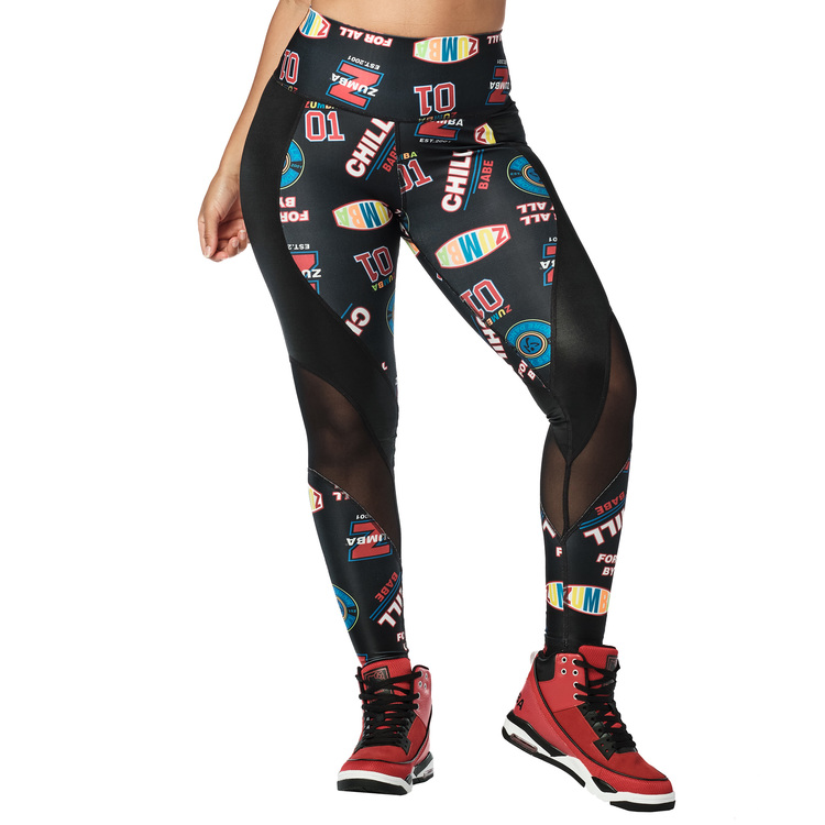 Zumba Sport High Waisted Mesh Panel Leggings