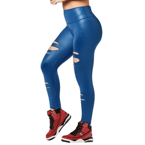 Zumba Slashed High Waisted Long Leggings