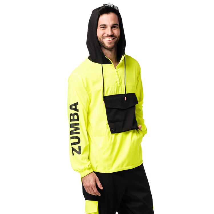 Bright Bold Zumba Half Zip Hoodie
