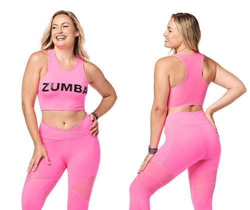 Bright Bold Zumba Crop Tank