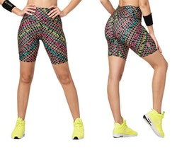 Bright Bold Zumba High Waisted Biker Shorts