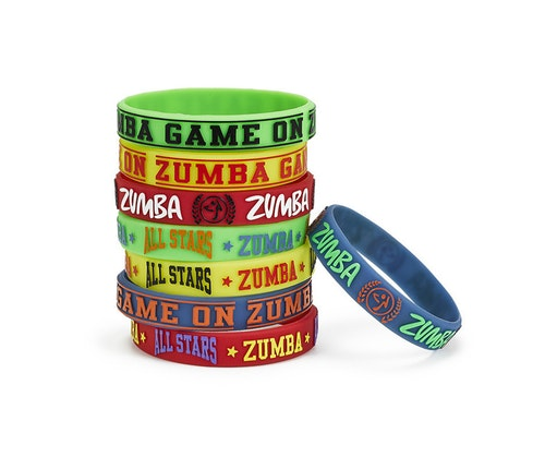Zumba Game On Rubber Bracelets 8pk