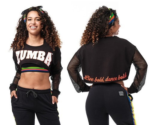 Zumba Long Sleeve Crop Top