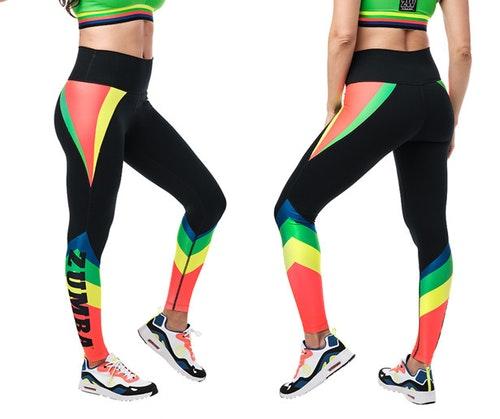 Zumba Team Talk High Waisted Ankle Leggings
