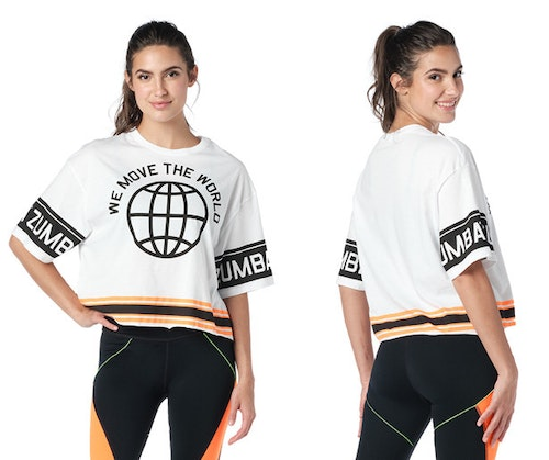 We Move The World Crop Top