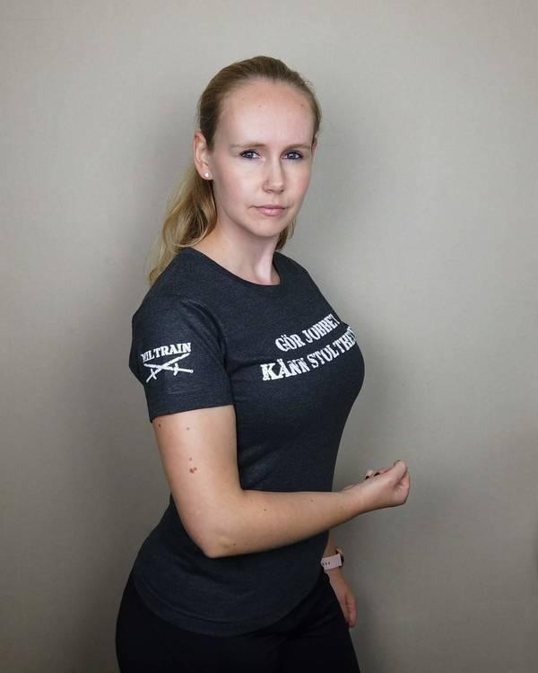 T-Shirt Gör Jobbet Känn Stoltheten dammodell
