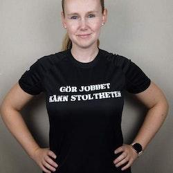 Fys T-Shirt Gör Jobbet Känn Stoltheten dammodell
