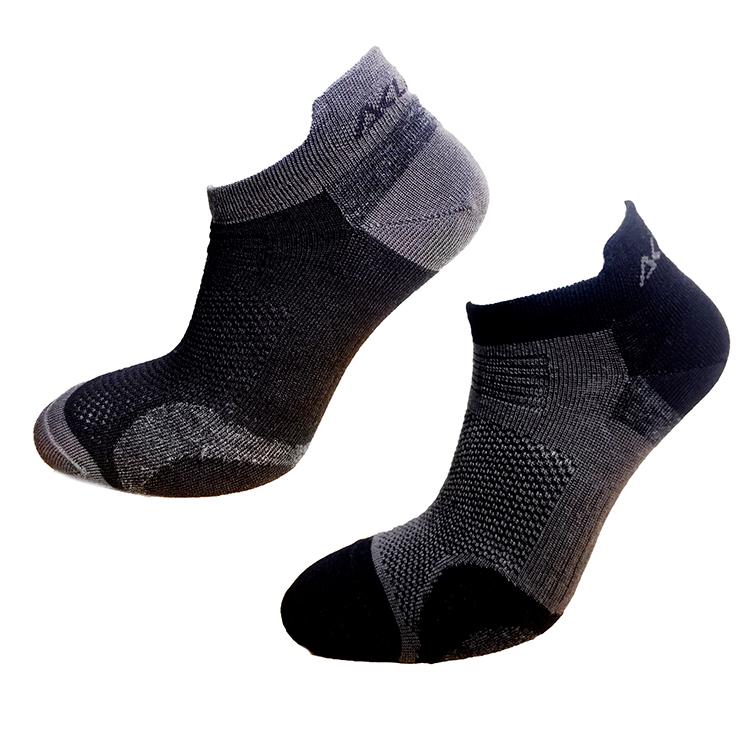 Aclima AS Strumpor Ankle Socks 2-pack -Jet Black