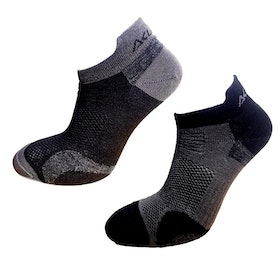 Aclima AS Strumpor Ankle Socks 2-pack -Jet Black