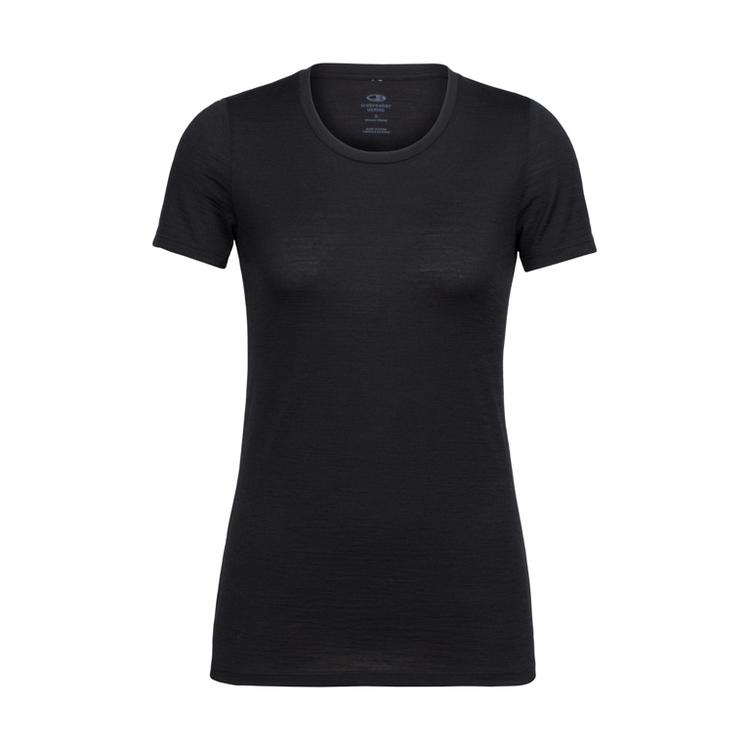 Icebreaker T-shirt Wmns Tech Lite SS Low Crewe Black